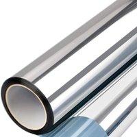 Pegatinas de la ventana Película reflectante Adhesiva Anti 99% UV Espejo Tinte One Way, Control de calor FO