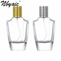 Nbyaic 50pcs Perfume sub-bottling 50ml exquisite portable bottle irregular glass empty push type spray