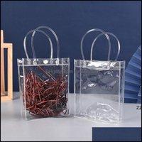 Cabinet Kitchen Storage Housekee Organization Home & Gardencabinet Door Organizers 15*20Cm Transparent Pvc Tote Bag Plastic Snap Shop Gift B