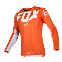 HTTP Fox Jersey MTB Motocross Off-Road Bike Riding Men's Racing Fange Threeved T-рубашка