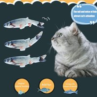 Cat Toys Funny Electric Fish Shape Catnip Toy Realistic Plush Wagging Interactive Gift