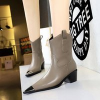 New Knight boots, long British style women's shoes, round toe shaping outsole, shoe body with top oil leather soft fabric, professional design team production