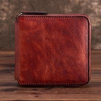 Wallets High Quality Natural Skin Women Purse Handy Money Bag Multi-Card Holder Coin Pocket Retro Genuine Leather Clutch Mini Wallet