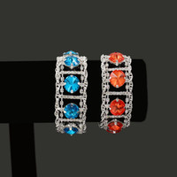 Charm Bracelets Trendy 2021 Cubic Zirconia Jewelry Silver Color Chunky CZ Crystal Female Bangles For Women