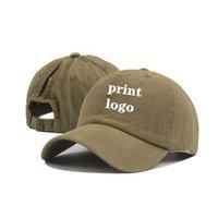 Nuova tappo da baseball personalizzato stampa testo Photo Ricamo Gorra Casual Colore solido Cappello a colori solido Tappo di rimbalzo per uomo e donna Q0703