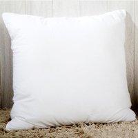 3 tamaños de sublimación personalizada cubierta de almohada Sofá Silla Cojín Funda de almohada Coche Decoración del hogar Color sólido DIY Regalos de Navidad