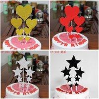 Пекарня Любовь Пять остроконечных Звездных Десерт Партийные продукты Торт Флаг карты
