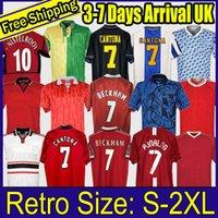 Retro Birleşik 2002 Futbol Forması Adam Futbol Gigns Scholes Beckham Ronaldo Cantona Solskjaer Manchester 06 07 08 94 96 97 98 99 86 88 90 90