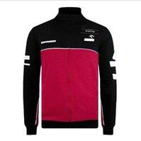 Fórmula uno Traje de carreras Chaqueta de manga larga Otoño e invierno Equipo de equipo de invierno Suéter cálido Fleece delgado Ropa de motocicleta personalizada