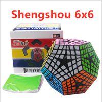 Shengshou 6x6 MegaMinxed 큐브 6x6x6 도데 카 헤드론 큐브 Shengshou Megaminxed 6x6 매직 큐브 12 양면 Cubo Magico 퍼즐 장난감