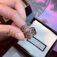 Donne da uomo Skull Letter Lettera anello anelli con timbro moda gioielli accessori taglia 6/7/8/9 di alta qualità senza scatola