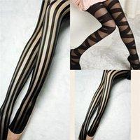 Socks & Hosiery Sexy Skinny Women Stockings Fashion Goth Rocker Cross Bandage Straps Pants Pantyhose Tights Wholesale Drop Ship