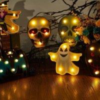 도매 할로윈 장식 호박 거미 박쥐 마녀 유령 두개골 lead 홈 장식 축제 바 파티 XX55에 대 한 빛 밤 램프