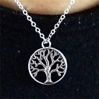 سبيكة شجرة السلام قلادة باديا الرجال والنساء بسيطة قلادة عشاق الأزياء سلسلة مجوهرات اكسسوارات 0 7XZ P2