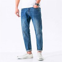 Men's Jeans Casual For Men Korean Style Blue Washed Denim Trousers Outdoor Man Streetwear Pocket Pants Straight Baggy Hombre