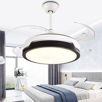 Ventilateurs de plafond Invisible Lampe de ventilateur Ménage Moderne Simple Salon Chambre à coucher Salle à coucher