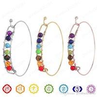 Yoga 7 Chakra wire Bracelet for Women Healing crystal Tiger eye Natural Stone Bangle Beads Reiki Spiritual Buddha Mens Fashion Jewelry