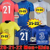 Chelsea CFC PULISIC ZIYECH HAVERTZ KANTE WERNER ABRAHAM CHILWELL MOUNT JORGINHO maglia da calcio 2022 2021 maglia da calcio GIROUD 22 21 uomini + kit per bambini