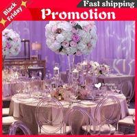 Decorative Flowers & Wreaths 60CM 3 4 Large Artificial Flower Ball Silk Table Centerpiece For Party Event Wedding Decor Road Lead Bouquet