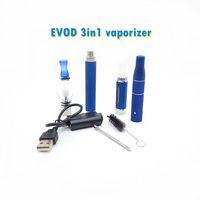 EVOD 3 in 1 ego 3in1 vape kits dry herb vaporizer kit Glass Globe atomizer wax pen MT3 e-liquid batteries dab pens e cigs