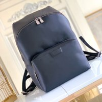 M43186 DISCOVERY backpack luxury designer backpacks men genuine leather travel back pack outdoor sport walking school fashion double shoulders bags black sac à dos