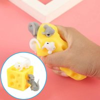 toy 2021 Hot Nice Cheese Mouse Creative Tricky Scary Pinch Music Decompression Children's Fidget Games Pop it 50's