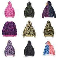 Winter Mężczyźni Damska Kurtka Camo Shark Usta Bluza Bluza Kurtki Męskie Kobiety Bluzy Bluzy Pocenia Drukowane Z Kapturem Pullover Ciepła Print Płaszcz
