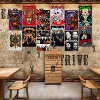 록 밴드 틴 징후 금속 빈티지 포스터 오래 된 벽 금속 플라크 클럽 벽 홈 아트 금속 그림 벽 장식 아트 그림 파티 장식 OWD7064