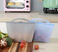FDA reusable سيليكون تخزين الغذاء حاويات الحفاظ على حقيبة محكم ختم حاوية الطازجة تنوعا أكياس الطبخ BWB7251