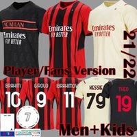 21 22 Giroud Ibrahimovic Soccer Jerseys Jersey Version AC Milan 2021 2022 Brahim Football Shirt Kids Equipment Rebic Camiseta de Futbol Romagnoli Kits