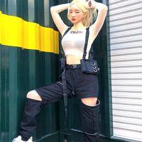 Brandes Cosplay Gothic Cosplay Accessoires de Street Hip Hop Tactical Vest Sac Fashion Unisexe Hommes Femmes Sac à dos Sacs à dos