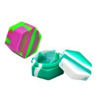 Não-stick FDA Silicone Armazenamento frascos Essentais Óleo Slick 26ml Silicone Cera De Cera Deixados Contêineres Container Vidro Dab Ferramenta 438 S2