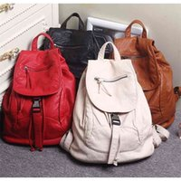 Luxury Famous Brand Designer Washed Leather Women Backpack Female Casual Shoulders Bag Teenager School Fashion Women's s 210911