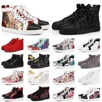 Red Bottoms BOX 포함 loafers 캐주얼 신발 Junior Studded Spikes Platform Designers Red Bottoms 럭셔리 브랜드 신발 남성 여성 플랫 트레이너 스니커즈 크기 13