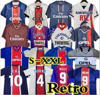 93 94 95 96 PSG Retro Futebol Soccer Jersey Okocha Leroy Adailton Beckham 98 99 00 01 90 92 Paris saint germain Classic Rai Anelka Ibrahimovic Camisas de Futebol