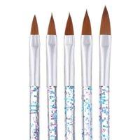 5 adet Tırnak Fırçalar Profesyonel Manikür UV Jel Fırça Kalem Akrilik Sanat Boyama Çizim Araçları Bırak