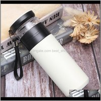 Bottles Drinkware Kitchen, Dining Bar Home & Garden Stainless Steel Tea Thermos Vacuum Insulated Water Bottle Portable Outdoor Dhb504 Drop D