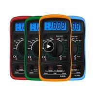 XL830L El Dijital Multimetre LCD Aydınlatmalı Taşınabilir AC / DC Ampermetre Voltmetre Ohm Gerilim Test Cihazı Metre Multimetro