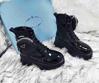 2021 женские дизайнерские кожаные ботинки ботильоны High-Top Bo Ots и Nylon Boo Ts Willy Style Boy Boot's Nylo N BOTS PLUS BOX