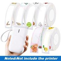 Printers Mini Label Printer Paper Waterproof Anti-Oil Prince Pure Color Scratch-Resistant Sticker D11
