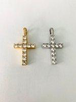 European and American hip hop micro inlaid zircon Ankh cross pendant zircon 4mm chain necklace rock club accessories