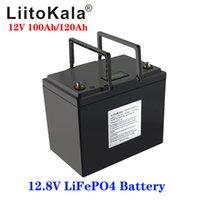 LiitoKala 12V 100ah 120Ah Lifepo4 battery pack waterproof lithium battery pack 12.8v batteries for boat motor, inverter,etc