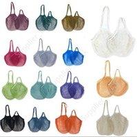Shopping Bags Handbags Vegetable Fruits Grocery Bag Shopper Tote Mesh Net Woven Cotton Bags String Organizer Reusable Storage Bags DAU260