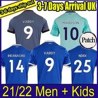 الرجال + الاطفال 21 22 تايلاند ليستر لكرة القدم جيرسي المدينة الرئيسية Vardy Maddison Tielemans Ndidi بعيدا كرة القدم قميص