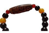 Nine-Eyed Dzi colourful Buddha Bead Good Luck Beaded Bracelet Free Ship ping