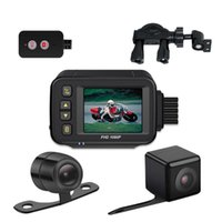 Camcorders Full Body Waterproof Motorcycle Camera 720p + 480 HD Front Rear View Driving Recorder DVR Dash Cam Logger Box