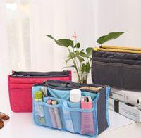Bolsa de maquillaje Monedero Organizador de almacenamiento cosmético Sundry Cosmetics Bolsas de viaje a granel Multi dos cremallera