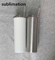 Weiße Edelstahlfarbe einfache Mode 304 Edelstahl große Kapazität Sippy Cup Reisebüroschule bequem, um praktisch zu tragen