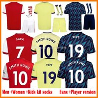 21 22 Pepe Saka Soccer-Jerseys Fan-Player-Version Gunners Arsen Ødegaard Thomas Wilian Nicolas Tierney Smith Rowe Jersey Männer + Kinder Kits 2021 2022 Fußballhemden