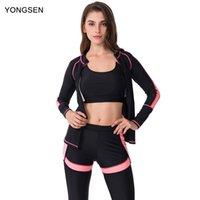 Abiti da un pezzo Yongsen 2021 Tankini da donna Plus Size Beachwear Bathinsuit con manica professionale costume da bagno costume da bagno costume da bagno sportivo